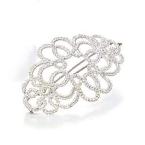 """Brautschmuck Haarspange """"Medea"""" in Silber. Exklusiver Spitzenschmuck, Hochzeitsschmuck für den schönsten Tag des Lebens."""