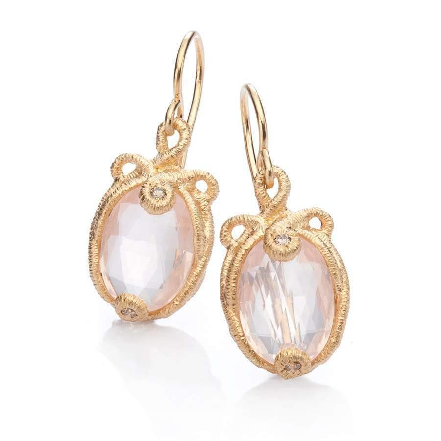 Pendant earrings undinchen in rose gold with brilliant cut pendant earrings undinchen in rose gold with brilliant cut diamonds aloadofball Image collections
