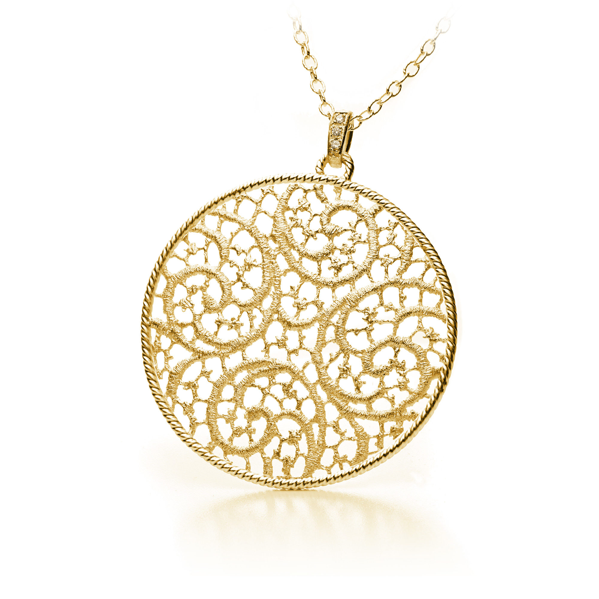 necklace minimal round n vo b gold brilliant oro solitaire diamond classic yg products yellow vrai